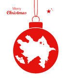 Merry Christmas theme with map of Azerbaijan Royalty Free Stock Images