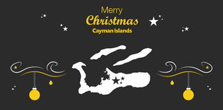 Merry Christmas theme with map of Cayman Islands Stock Photography