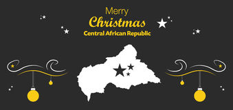 Merry Christmas theme with map of Central African R Royalty Free Stock Photos