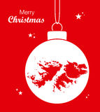 Merry Christmas theme with map of Falkland Islands. Merry Christmas illustration theme with map of Falkland Islands Royalty Free Stock Image