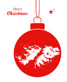 Merry Christmas theme with map of Falkland Islands Stock Images