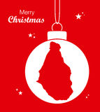 Merry Christmas theme with map of Montserrat Royalty Free Stock Photography
