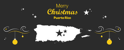 Merry Christmas theme with map of Puerto Rico Royalty Free Stock Images
