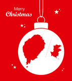 Merry Christmas theme with map of Sao Tome and Prin Stock Photography