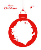 Merry Christmas theme with map of Sierra Leone Royalty Free Stock Images