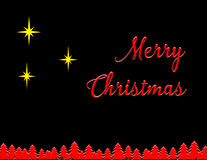 Merry Christmas Three Stars Stock Images