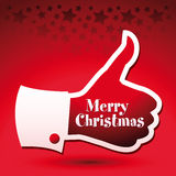 Merry Christmas thumbs up Royalty Free Stock Photography