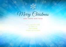 Merry Christmas time background with text - illustration. Vector illustration of a glowing Merry Christmas time background stock illustration