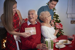 Merry Christmas to grandparents! Stock Images