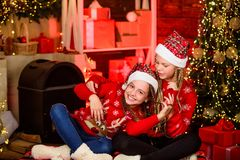 Merry Christmas to you. sisters spend family holiday. Thank you dear santa. They love Christmas. merry christmas