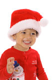 Merry christmas toddler Stock Image