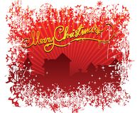 Merry Christmas town & frame Royalty Free Stock Photo