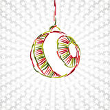 Merry christmas toy ball xmas happy new year card Royalty Free Stock Photo