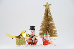 Merry christmas. Toy set for celebration stock images
