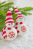 Merry christmas toy snowman Royalty Free Stock Image