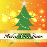 Merry Christmas and tree. Royalty Free Stock Images