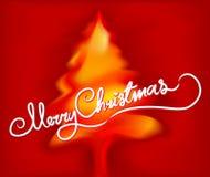 Merry Christmas tree Stock Photo