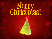Merry christmas tree Royalty Free Stock Photo