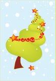 Merry Christmas tree Royalty Free Stock Photography