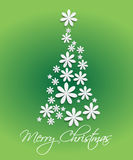 Merry christmas  tree background green Stock Image