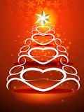 Merry Christmas Tree Background With Sparkle Stock Images