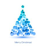 Merry christmas tree background Royalty Free Stock Photography