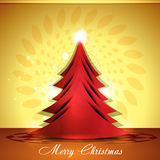 Merry christmas tree background Stock Photography