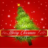 Merry christmas tree background. Vector illustration. EPS 10 Stock Image