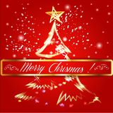 Merry christmas tree background. Royalty Free Stock Image