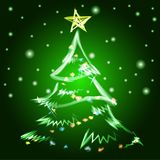 Merry Christmas tree background. Vector illustration. EPS Royalty Free Stock Images