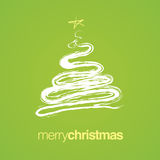Merry Christmas Tree Card Royalty Free Stock Photo