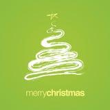 Merry Christmas Tree Card Royalty Free Stock Photo