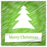 Merry christmas tree card Royalty Free Stock Photography