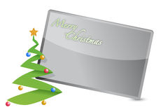 Merry christmas tree card illustration design Stock Photography