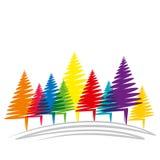 Merry christmas tree Royalty Free Stock Image