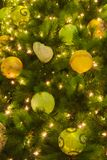 Merry Christmas tree decorations of various seasonal colors. Merry Christmas tree decorations of various beautiful, festive, seasonal colors royalty free stock photography