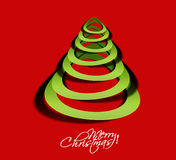 Merry christmas tree design Royalty Free Stock Photo