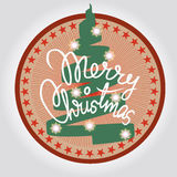 Merry christmas tree design element Royalty Free Stock Image