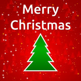 Merry Christmas tree Royalty Free Stock Photos
