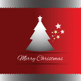 Merry Christmas tree greeting card Royalty Free Stock Images