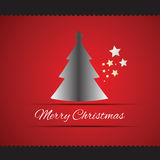 Merry Christmas tree greeting card Royalty Free Stock Photography