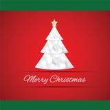 Merry Christmas tree greeting card Stock Photo