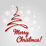 Merry Christmas tree greeting card. Paper design Stock Photo