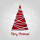 Merry Christmas tree greeting card. Paper design Royalty Free Stock Photography