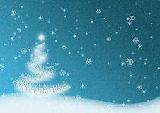 Merry Christmas Tree Royalty Free Stock Photography