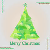Merry christmas tree illustration Stock Photos