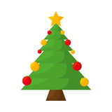 Merry christmas tree isolated icon Royalty Free Stock Images