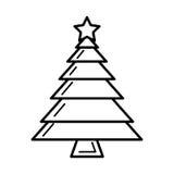 Merry christmas tree isolated icon Stock Photo