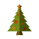 Merry christmas tree isolated icon Royalty Free Stock Photography