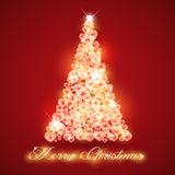 Merry Christmas tree love Royalty Free Stock Image